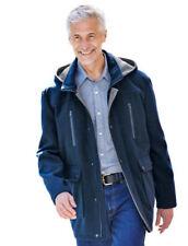 Cappotti e giacche da uomo blu in lana taglia L