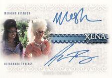 Xena Quotable Meighan Desmond & Alexandra Tydings DA3 Dual Auto Card