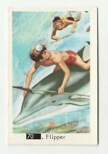 1960s Swedish Pop Star Card #70 Flipper the Dolphin With Beatles Sectional Back