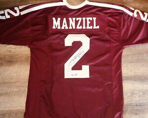 Johnny Manziel Signed College Style Football Replica Jersey Jsa F