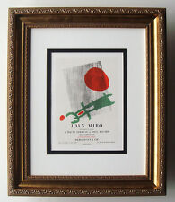 "Awesome Joan MIRO Antique Exhibition Poster ""À Toute Épreuve"" GALLERY FRAMED COA"