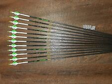 Gold Tip XT Hunter 340 Arrows With Blazer Vanes Custom Made Set of 12