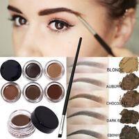 Étanche Durable Pommade Crème Gel Sourcils Eyebrow Eyeliner Maquillage + Pinceau