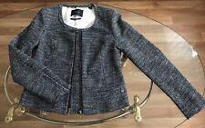 MAISON SCOTCH 💜 Blazer Jacke Luxus grau 42 44 L neu mit Etikett