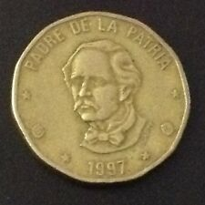 World Coins - Dominican Republic 1 Peso 1997 Coin free shipping