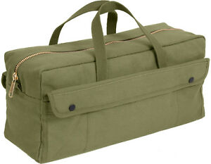 Extra Long Gear Bag with Brass Zipper, Heavy Duty Work Jumbo Mechanics Tool Duty