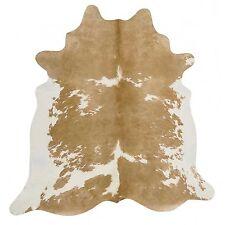 COW HIDE SKIN NATURAL BEIGE WHITE PREMIUM FLOOR RUG XL Size Approx 4m² **NEW**