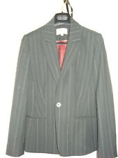 Ladies NEXT black pin stripe single breasted jacket size 14