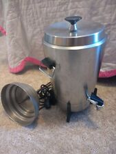 Vintage 60s West Bend Stainless 30 Cup Coffee Percolator Catering Model 7210