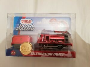 Thomas & Friends TRACKMASTER MOTORIZED 75TH CELEBRATION JAMES METALLIC TRAIN NEW