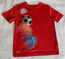 Boys Red Shirt with baseball, soccer ball, basketball, football size Large (7)