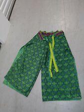 Wrap Casual Pants Boho Style Silk Blend One Size