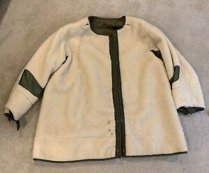Vtg US Army M51 M1951 Field Parka Liner Wool Cotton Pile Frieze Fishtail #2