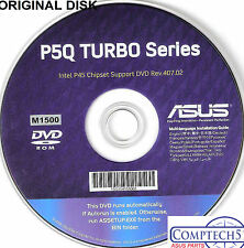 ASUS GENUINE VINTAGE ORIGINAL DISK FOR P5Q PRO TURBO Motherboard Disk M1500