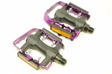 """9/16"""" FIXIE  ATB MOUNTAIN BIKE PURPLE PEDALS LOW PROFILE ALLOY CAGE RESIN BODY"""