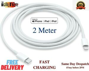2 Meter 2M iPhone Charger & Data Sync Cable Type C  For iPhone 12 5 6 7 8 X XS