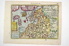 ORTELIUS. LIVONIAE NOVA DECRIPTIO, JOANNE PORTANTIO AUCTORE. 1598.