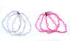 Set of 3 Heart Bead  Beaded Girls Bracelets Bangle Party Bag Filler (04)  uk