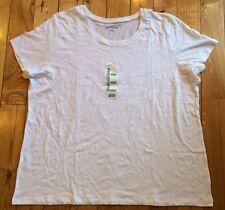 NWT Womens EDDIE BAUER White Scoop Neck Tee Shirt Top Size 3XL XXXL