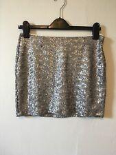 Gap Silver Sequinned Mini Skirt Size 0 UK XS BNWT RRP £31.99 Festival Summer