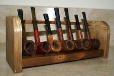 Portapipe settimanale 7 posti in legno pipa espositore da tavolo antiscivolo