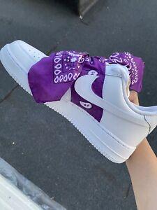 brand new purple bandana custom air force 1 size 10.5