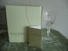 NEW Galway Irish Crystal KYLEMORE Red WINE 10501 24% Lead Crystal SIGNED BOX 4
