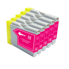 5 PK MAGENTA Premium Ink for Series LC51 Brother MFC 465CN 3360C  5460CN  5860CN
