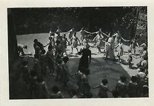 PHOTO ANCIENNE - VINTAGE SNAPSHOT - ÉCOLE FILLE FARANDOLE RONDE - SCHOOL GAME
