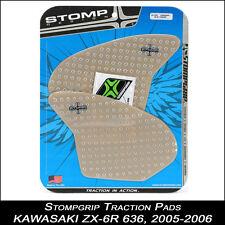 STOMPGRIP Pads de tracción, KAWASAKI zx-6r 636 ,2005-2006, transparente,
