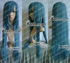 New long Dark Blue Cosplay Party Wig 100cm H194