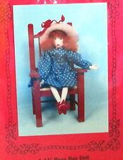 "Bean Bag cloth art doll pattern Betty Bean iron on face 14"" Barbara Willis Ff"
