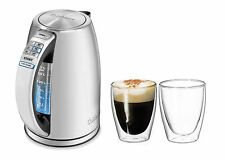 Cuisinart PerfecTemp 1.7ltr S/S Electric Kettle BONUS Cafe 250ml Twin Wall Glass