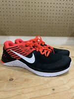 Nike Metcon Dsx Flyknit Men's Sz 10.5 Cross Training Black White Red 852930-009