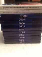 1999-2008 2009 2010 US MINT 50 STATE QUARTERS PROOF COLLECTOR SET+BOX+COA GREAT