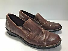 CLARKS Bendables Women's Size 11M Brown Leather Slip On Loafer Shoe