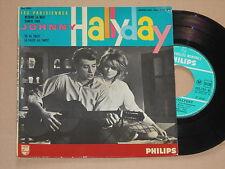 """JOHNNY HALLYDAY -Retiens La Nuit (Les Parisiennes)- 7"""" 45 EP Philips France"""