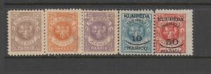 Lithuanian Occ. of Memel - 5no. different stamps 1923 (CV $7)