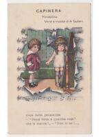 Bertiglia? cartolina con bambini - Capinera versi e musica Giuliani