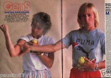 Coupure de presse Clipping 1986 Martina Navratilova Chris Evert Lloyd  (2 pages)