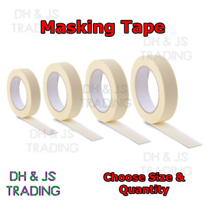 Masking Tape Indoor Outdoor Painting Decorating DIY Car 19mm, 25mm, 38mm, 50mm
