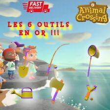 Meilleur Prix !!PACK 6 OUTILS EN OR !! FAST Switch Animal Crossing: New Horizons