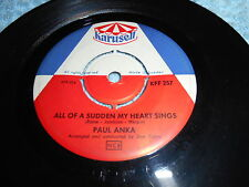 Paul Anka All Of A Sudden My Heart Sings / That's Love (si) Sweden VG+