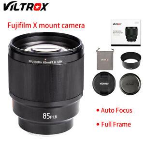 VILTROX 85mm f/1.8 STM Auto Focus lens F1.8 Lens for Fujifilm X-T3 X-Pro2 X-T2