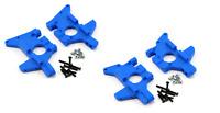 New Traxxas T-maxx .15 2.5 3.3 / E-maxx RPM Front & Rear Bulkhead Set Blue