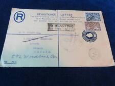 "Orig Nyasaland Registered Envelope ""Blantyre Nyasaland - Montreal"" 1945"