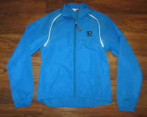Pearl iZumi Mens Long-Sleeve Full-Zip Cycling Jacket, Blue, Size M, EUC