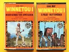 2 MC - Hörspielcassetten: Winnetou I * Folge 1&2 * Karl May * Z: gut * gebraucht