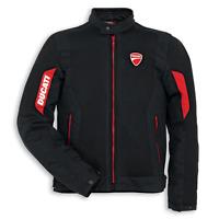 New Spidi Ducati Flow 2 Fabric Jacket Men's S Black/Red #981027953