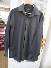 "Gents GEORGE black long sleeve shirt size 17"" neck"